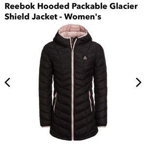 Reebok Packable Hooded Glacier Shield Jacket Black